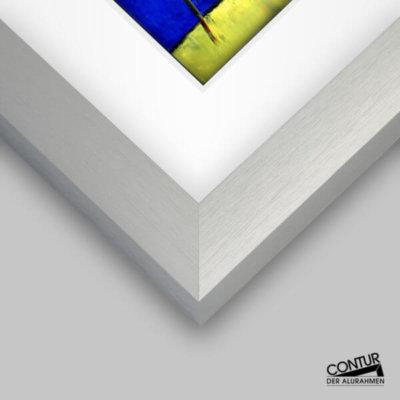 Alu-Wechselrahmen für grössere Formate - lieferbar in mehrere Farbausführungen