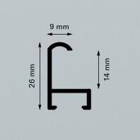 Alu-Rahmen Zuschnitte Contur 15 in mehreren Farbausführungen