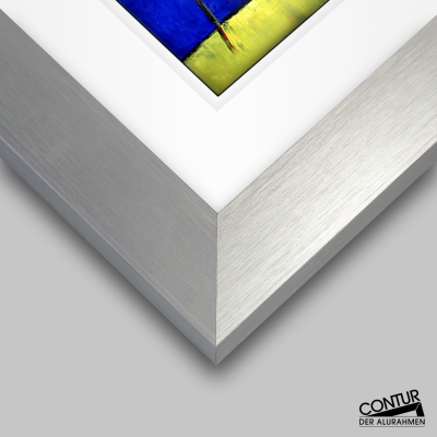 Trikot-Rahmen in silber matt und Schwarz
