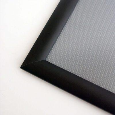 Klapprahmen 25 mm in einer kontastreichen Farbausführung - Schwarz matt -mit Gehrung