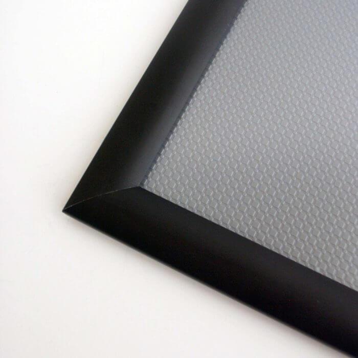 Schwarzer Alurahmen - Klapprahmen 25 mm in einer kontastreichen Farbausführung - Schwarz matt -mit Gehrung