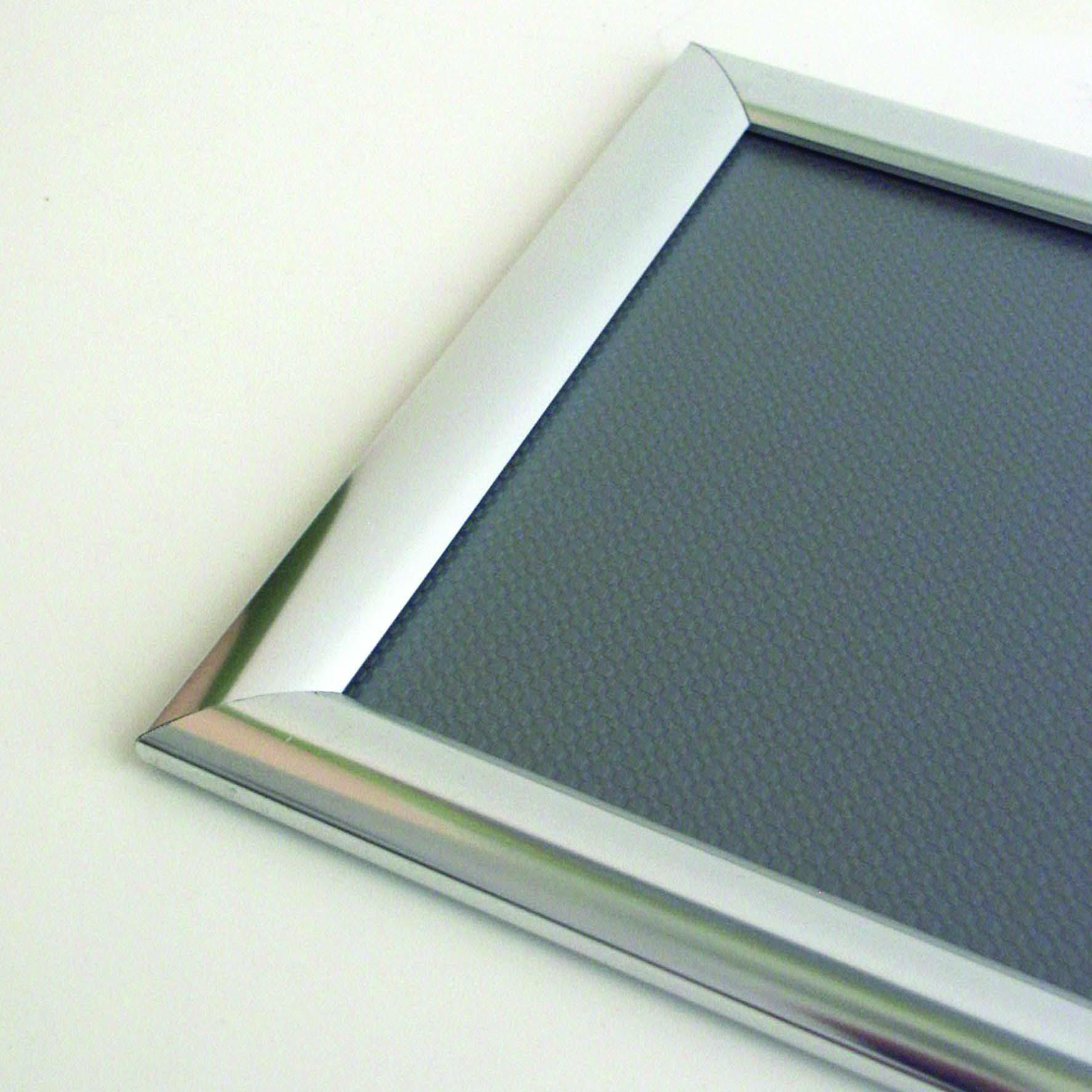 Klapprahmen 25 mm mit Edelstahl-Optik