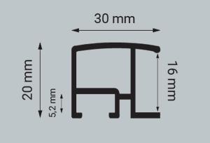Alu-Rahmen Zuschnitt Contur 320