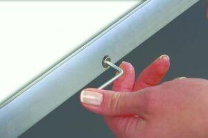 Klapprahmen 35mm wetterfest mit Sicherungsschraube