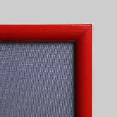 Aluminium-Wechselrahmen 60,0 x 80,0 cm auch als Klappahmen rot 25 mm
