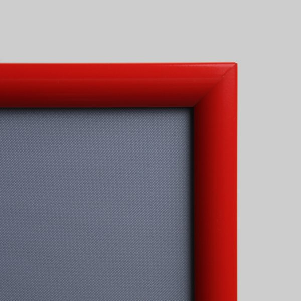 Aluminium- Klappahmen in rot 25 mm für Brandschutz Hinweise