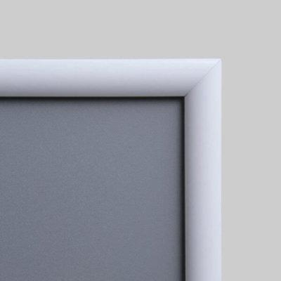 Klapprahmen weiß 25 mm RAL 9003 für Werbeposter