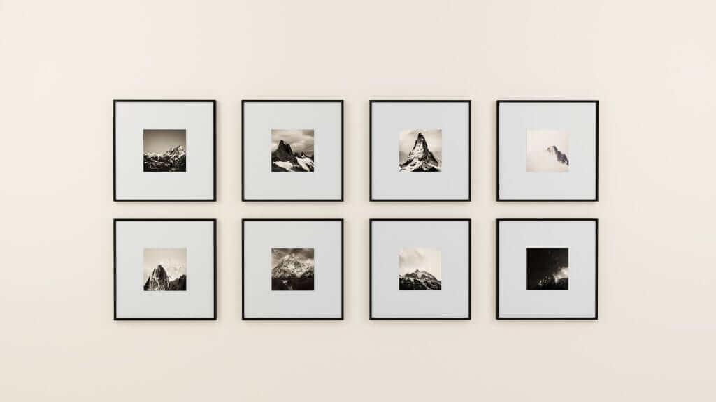 quadratische bilderrahmen in vielen Formaten